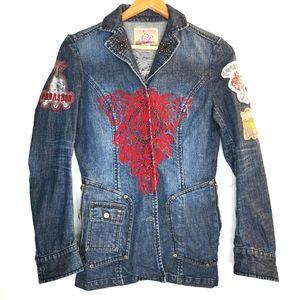 Parasuco denim jacket Size XS rock funky vintage